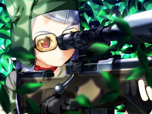 Rating: Safe Score: 81 Tags: game_cg glasses gun sekisaba tagme_(character) weapon white_hair User: Wiresetc