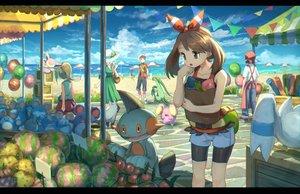 Rating: Safe Score: 45 Tags: beach grovyle haruka_(pokemon) marill marshtomp pippi_(p3i2) pokemon poochyena skitty whismur wingull yuuki_(pokemon) User: FormX