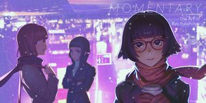 Rating: Safe Score: 25 Tags: drink glasses ilya_kuvshinov original scarf short_hair snow tagme User: mattiasc02