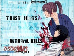 Rating: Safe Score: 3 Tags: blood himura_kenshin japanese_clothes male rurouni_kenshin scar sword weapon yukishiro_tomoe User: Oyashiro-sama