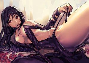 Rating: Questionable Score: 74 Tags: akechi_shizuku black_hair breasts collar consort_yu dress fate/grand_order fate_(series) flowers long_hair nopan red_eyes undressing User: otaku_emmy
