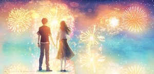 Rating: Safe Score: 23 Tags: fireworks fusui male original polychromatic signed User: FormX