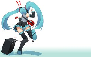 Rating: Safe Score: 44 Tags: guitar hatsune_miku headphones instrument nagian parody vocaloid white User: Cacha