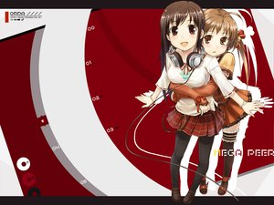 Rating: Safe Score: 32 Tags: 2girls amagai_tarou bow brown_eyes brown_hair headphones hug pantyhose ribbons stockings tagme User: Oyashiro-sama