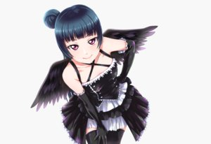 Rating: Safe Score: 44 Tags: black_hair elbow_gloves gloves gothic long_hair love_live!_school_idol_project love_live!_sunshine!! photoshop pink_eyes tagme_(artist) thighhighs tsushima_yoshiko white wings User: luckyluna