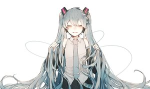 Rating: Safe Score: 35 Tags: hatsune_miku long_hair polychromatic rairyuu twintails vocaloid User: FormX