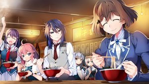 Rating: Safe Score: 10 Tags: aoi_haruto blue_hair braids brown_hair food front_wing fukami_reina game_cg gray_hair grisaia:_phantom_trigger group ikoma_murasaki kujirase_christina_sakurako long_hair male orange_eyes pink_hair purple_eyes purple_hair scarf seifuku shishigaya_touka short_hair skirt tie watanabe_akio User: RyuZU