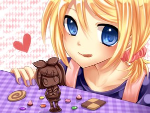 Rating: Safe Score: 63 Tags: kagamine_rin valentine vocaloid yayoi_(egoistic_realism) User: HawthorneKitty