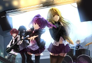 Rating: Safe Score: 123 Tags: aisha_(elsword) black_eyes black_hair blonde_hair blue_eyes chung_(elsword) drums elbow_gloves elsword elsword_(character) group guitar instrument long_hair microphone navel pointed_ears purple_eyes purple_hair red_eyes red_hair rena_(elsword) short_hair signed skirt swd3e2 thighhighs twintails yellow_eyes User: Flandre93