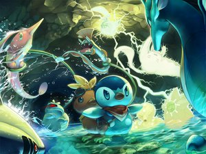 Rating: Safe Score: 65 Tags: bulbasaur pikachu piplup pokemon tagme_(character) torchic tori_otoko water User: opai