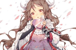 Rating: Safe Score: 29 Tags: animal_ears arknights brown_hair close eyjafjalla_(arknights) horns long_hair monosucre red_eyes valentine watermark User: BattlequeenYume