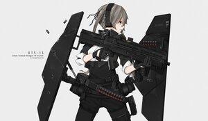 Rating: Safe Score: 39 Tags: armor chinese_robot_kid gloves gray_eyes gray_hair gun headphones original watermark weapon User: boomshadow