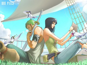 Rating: Safe Score: 78 Tags: nico_robin one_piece roronoa_zoro User: haru3173
