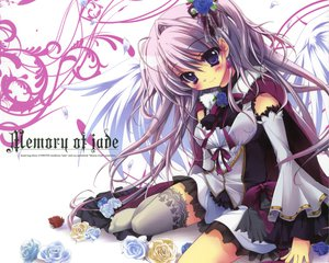 Rating: Safe Score: 95 Tags: blue_eyes flowers girls_a_war_war gray_hair izumi_tsubasu original wings User: Wiresetc