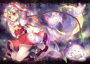 Rating: Safe Score: 102 Tags: animal blonde_hair choker flandre_scarlet hat moon rabbit red_eyes riichu skirt touhou waifu2x User: Zolxys