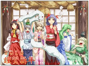 Rating: Safe Score: 56 Tags: animal black_hair blonde_hair blue_eyes bow brown_eyes fang gray_hair green_hair group hakurei_reimu hat headdress japanese_clothes kimono kochiya_sanae long_hair miko mishaguji mononobe_no_futo noise-111 purple_hair red_eyes ribbons scarf short_hair snake soga_no_tojiko tears touhou toyosatomimi_no_miko yasaka_kanako yellow_eyes User: C4R10Z123GT
