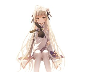 Rating: Safe Score: 103 Tags: brown_eyes bunny cosplay flowers gray_hair jiji_(381134808) kasugano_sora long_hair re:zero_kara_hajimeru_isekai_seikatsu ribbons thighhighs white yosuga_no_sora User: RyuZU