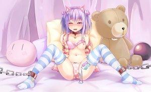 Rating: Explicit Score: 324 Tags: animal_ears bondage bra jcj0125 nipples open_shirt pussy_juice tagme underwear vibrator User: gnarf1975