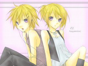 Rating: Safe Score: 16 Tags: kagamine_len kagamine_rin vocaloid User: HawthorneKitty