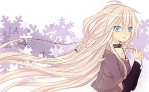 Rating: Safe Score: 87 Tags: blonde_hair blue_eyes braids flowers ia long_hair petals sakanadango vocaloid User: MissBMoon