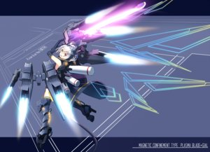 Rating: Safe Score: 16 Tags: elbow_gloves gloves mechagirl original purple_eyes short_hair sword tagme_(artist) weapon white_hair User: luckyluna