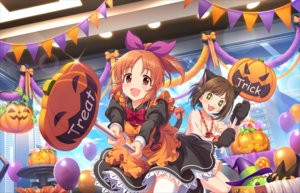 Rating: Safe Score: 33 Tags: 2girls animal_ears annin_doufu apron bow brown_eyes brown_hair catgirl cat_smile clouds dress fang gloves green_eyes halloween idolmaster idolmaster_cinderella_girls idolmaster_cinderella_girls_starlight_stage maekawa_miku maid ponytail pumpkin short_hair sky tagme_(character) thighhighs User: luckyluna