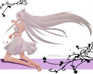 Rating: Safe Score: 75 Tags: animal_ears bakemonogatari barefoot catgirl dress hanekawa_tsubasa long_hair monogatari_(series) ribbons ricchy User: HawthorneKitty