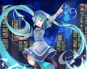 Rating: Safe Score: 46 Tags: aliasing hatsune_miku long_hair mitu_yang twintails vocaloid User: luckyluna