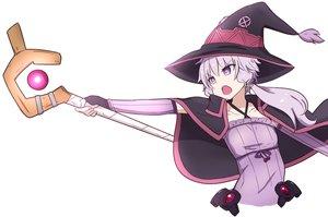 Rating: Safe Score: 19 Tags: cape cosplay flat_chest gloves hat kakihitoshirazu kono_subarashii_sekai_ni_shukufuku_wo! long_hair mage purple_eyes purple_hair staff vocaloid voiceroid white witch_hat yuzuki_yukari User: otaku_emmy