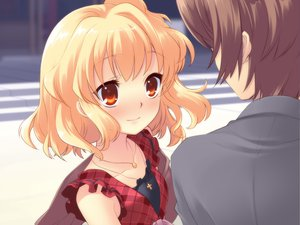 Rating: Safe Score: 35 Tags: blush flyable_heart game_cg itou_noiji sumeragi_amane User: Xtea