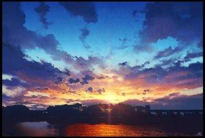 Rating: Safe Score: 99 Tags: building city clouds mocha_(cotton) nobody original realistic scenic signed sky sunset User: RyuZU