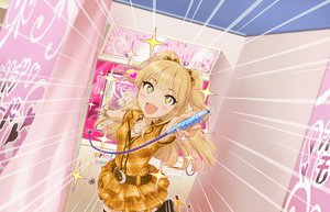 Rating: Safe Score: 5 Tags: blonde_hair blush bow idolmaster idolmaster_cinderella_girls idolmaster_cinderella_girls_starlight_stage jougasaki_rika loli long_hair tagme_(artist) thighhighs yellow_eyes User: RyuZU