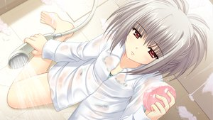 Rating: Questionable Score: 56 Tags: game_cg gray_hair kona_nako nishimata_aoi orange_eyes see_through sekai_seifuku_kanojo shower wet User: oranganeh