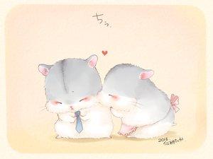 Rating: Safe Score: 62 Tags: animal apron blush heart kiss nobody original signed tie yutaka_kana User: otaku_emmy