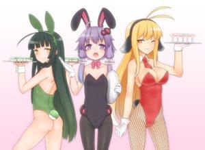 Rating: Safe Score: 72 Tags: breasts bunny_ears bunnygirl cleavage gloves kuroshiro_gurei touhoku_zunko tsurumaki_maki vocaloid voiceroid wink wristwear yuzuki_yukari User: FormX