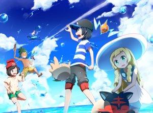 Rating: Safe Score: 46 Tags: group hau_(pokemon) lillie_(pokemon) litten male mizuki_(pokemon) pokemon popplio rotom rowlet shirogane_yu you_(pokemon) User: mattiasc02