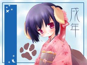 Rating: Safe Score: 11 Tags: animal_ears doggirl japanese_clothes kimono natsume_eri User: Oyashiro-sama