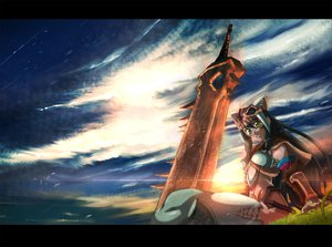Rating: Safe Score: 31 Tags: keiji_asakawa monster_hunter sky sword weapon User: lost91colors