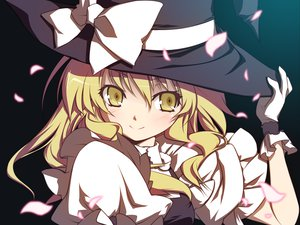 Rating: Safe Score: 88 Tags: hat kirisame_marisa petals touhou witch yellow_eyes yumeno_mikan User: HawthorneKitty