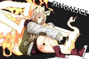 Rating: Safe Score: 51 Tags: blush brown_hair fire hoodie long_hair red_riding_hood_(sinoalice) signed sinoalice tsunamayo_(flying_cat) User: BattlequeenYume