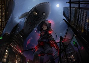 Rating: Safe Score: 76 Tags: building city dark dleung moon night original rain sketch sky sword water weapon User: BattlequeenYume