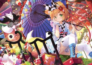 Rating: Safe Score: 69 Tags: animal animal_ears boots candy flowers fox foxgirl green_eyes headband japanese_clothes lolita_fashion lollipop orange_hair scan short_hair tail thighhighs umbrella yano_mitsuki yukata User: RyuZU