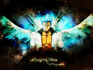 Rating: Safe Score: 22 Tags: all_male bleach grimmjow_jeagerjaques kubo_tite male mask wings User: Oyashiro-sama