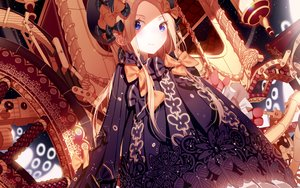 Rating: Safe Score: 110 Tags: abigail_williams_(fate/grand_order) atha blonde_hair blue_eyes bow dress fate/grand_order fate_(series) hat long_hair User: RyuZU