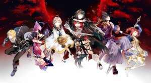 Rating: Safe Score: 77 Tags: aliasing armor bandage black_hair blonde_hair book boots breasts brown_hair cape collar dress gloves gray_hair green_eyes group hat japanese_clothes long_hair male navel red_hair short_hair shorts socks staff sword tagme_(artist) tales_of_berseria thighhighs torn_clothes twintails weapon witch_hat yellow_eyes User: otaku_emmy