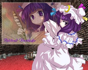 Rating: Safe Score: 9 Tags: book hat jpeg_artifacts long_hair patchouli_knowledge purple_eyes purple_hair touhou User: Oyashiro-sama