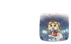 Rating: Safe Score: 18 Tags: blood chibi christmas fang flandre_scarlet haipa_okara thighhighs touhou vampire white wings User: SciFi