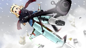 Rating: Safe Score: 21 Tags: alexandra_i_pokryshkin blonde_hair gun mizuki_ame scarf snow strike_witches weapon User: opai