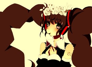 Rating: Safe Score: 41 Tags: black_eyes black_hair close flowers hatsune_miku headphones long_hair nisoku_hokou_(vocaloid) twintails vocaloid User: STORM