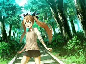 Rating: Safe Score: 17 Tags: bouru stairs tagme twintails User: 秀悟